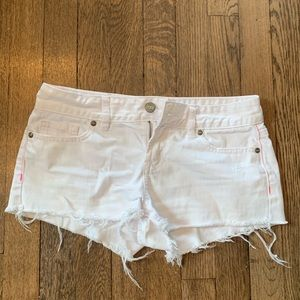 PINK White Denim Shorts